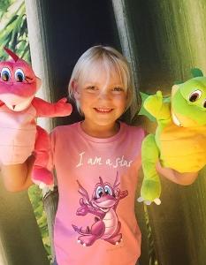 """T-Shirt Mädchen - """"I am a star"""" - Orchid Pink"""